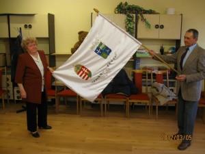 2012.03.05. Millenniumi zászló, varrta 2000. évben Bakos Dezsőné 014